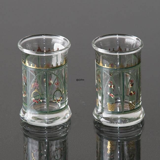 Holmegaard Christmas Juledramglas 1999, 2 stk