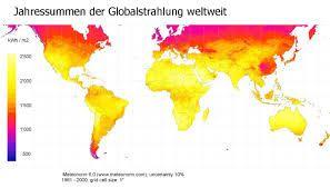 Bildergebnis für globalstrahlung weltweit