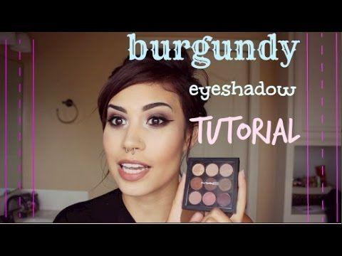 Burgundy Eyeshadow Tutorial - YouTube