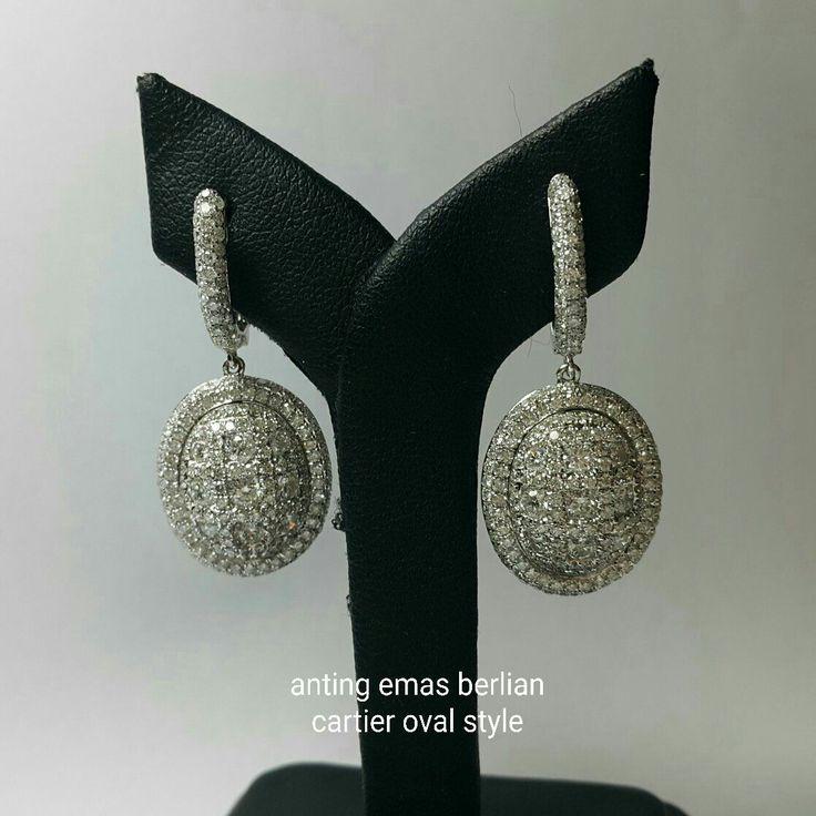 Mengapa kami upload yg simple? Bkn berarti simple terlihat kilau abadinya ga berkualitas ya!! Nih persembahan kami.  Khusus buat wanita cantik dan cerdas dlm berbelanja ya!! Anting Emas Berlian cartier oval style. Toko Perhiasan Emas Berlian-Ammad +6282113309088/5C50359F Cp.Antrika. https://m.facebook.com/home.php #investasi#diomond#gold#beauty#fashion#elegant#musthave#tokoperhiasanemasberlian