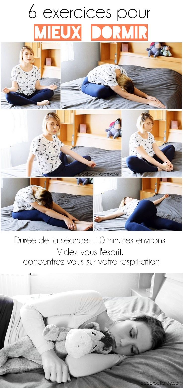 6 exercices relaxants pour bien dormir #lifestyle #sleeping #sommeil #relaxation #yoga #exercice #dormir