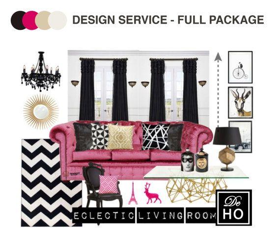 Interior Design Service Online EDesign Complete 1 Room By DeHo