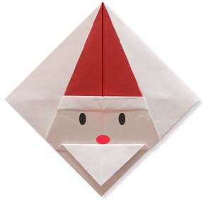 Origami Coaster of Santa