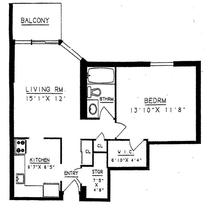 Prince William Apartments floorplan 1