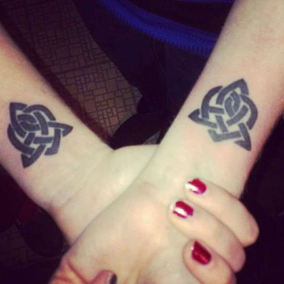 Irish Celtic Tattoos Knot, Trinity, Harp, Band (32)