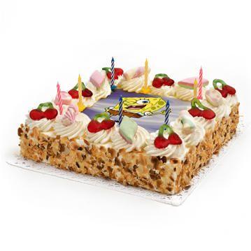 Maak je verjaardag nog vrolijker met deze gezellige Spongebob-Taart. Bestel de verjaardagtaart online. We kunnen de taart in heel Nederland bezorgen. De taart is versierd met spekjes, snoepjes en kaarsjes en gevuld met heerlijk romige slagroom. Vandaag besteld, morgen geleverd!