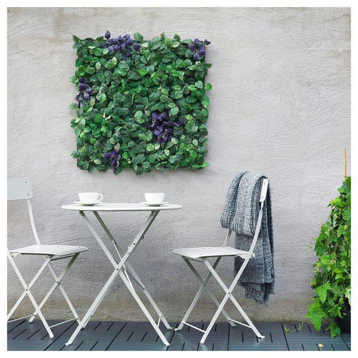 FEJKA Kunstplant, wandgemonteerd, binnen/buiten groen
