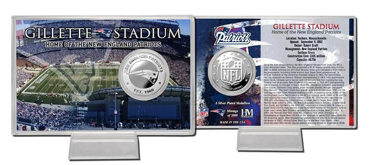 New England Patriots Silver Coin Card - Stadium