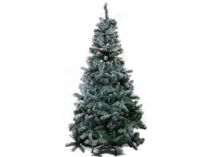 Albero pino abete natalizio innevato Dolomiti con 580 rami e base in metallo  Misure: Ø 100 cm x 180 H Materiale: Plastica Utilizzo: Fiori artificiali