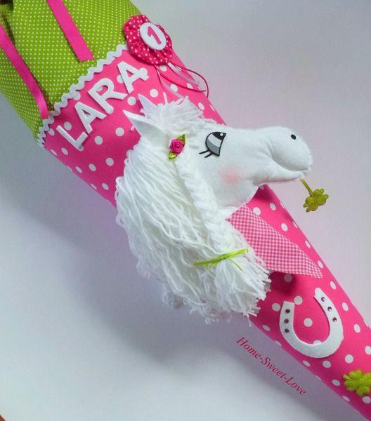 """Schultüte+""""+Pony+in+pink+""""++Pferd+von+Home-sweet-love+auf+DaWanda.com"""