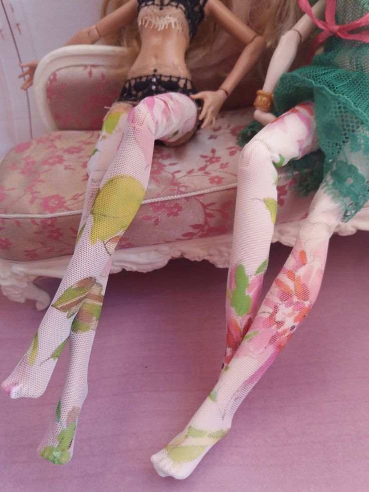 High flower stockings by Dress4bjd on Etsy