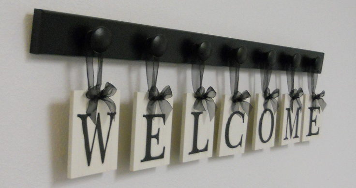 WELCOME Sign Personalized Hanging Letters Includes by NelsonsGifts, $33.00