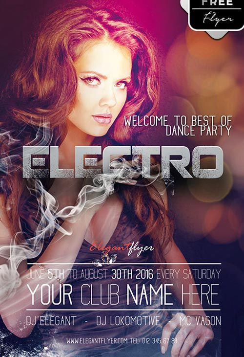 26 best flyer images on pinterest club flyers flyer design and electro dance party free psd flyer template httpfreepsdflyer pronofoot35fo Images