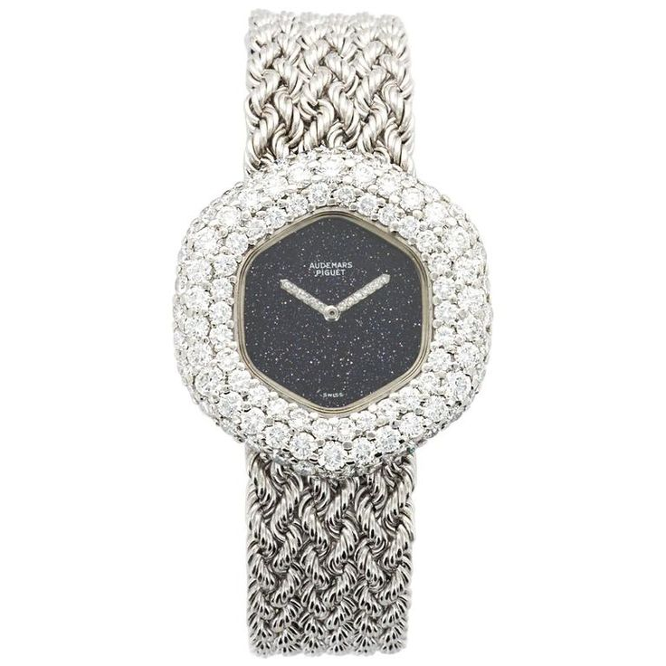 Lady's Audemars Piguet White Gold Diamond Watch, circa 1970s | From a unique collection of vintage wrist watches at https://www.1stdibs.com/jewelry/watches/wrist-watches/