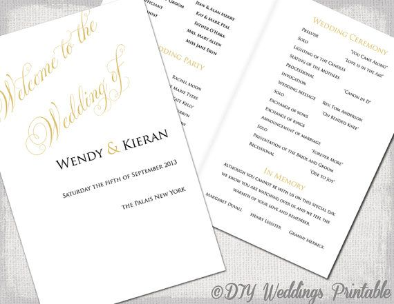 The 25+ best Wedding ceremony booklet templates ideas on Pinterest - how to design wedding program template