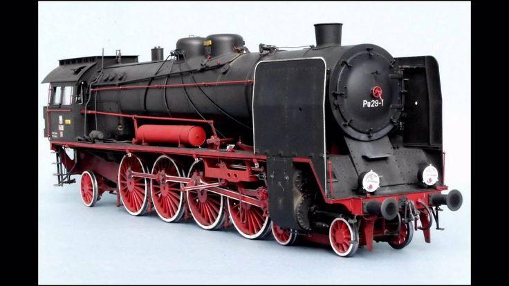 Polish steam locomotive Pu29 - paper model . Probably the finest paper model of steam locomotive you will ever see.