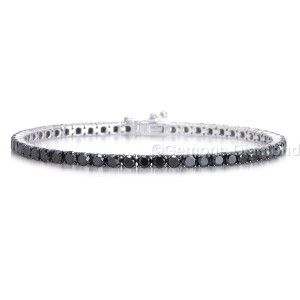 BEAUTIFUL 16.0 CT NATURAL BLACK DIAMOND TENNIS BRACELET.THIS ELEGANT DIAMOND TENNIS BRACELET CAN BE WORN EVERY DAY OR FOR SPECIAL OCCASIONS.