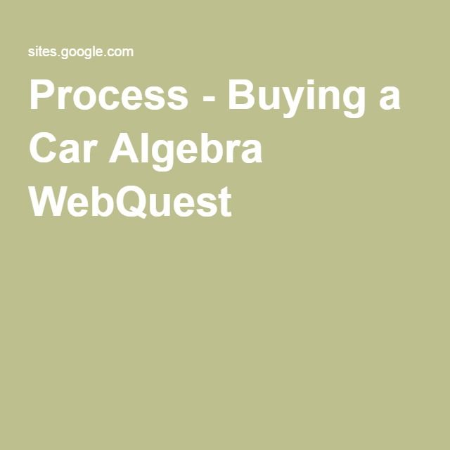 Buying A Car Webquest