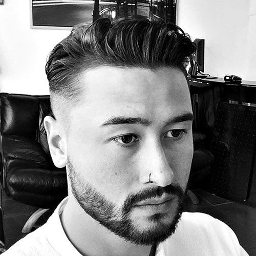 Dapper Hairstyles - Mid Fade with Spiked Front