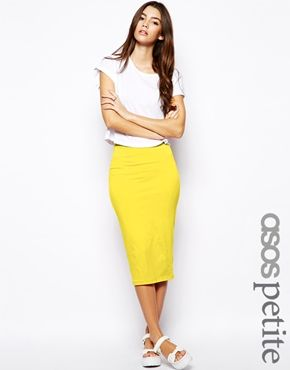 Image 1 of ASOS PETITE Pencil Skirt in Jersey