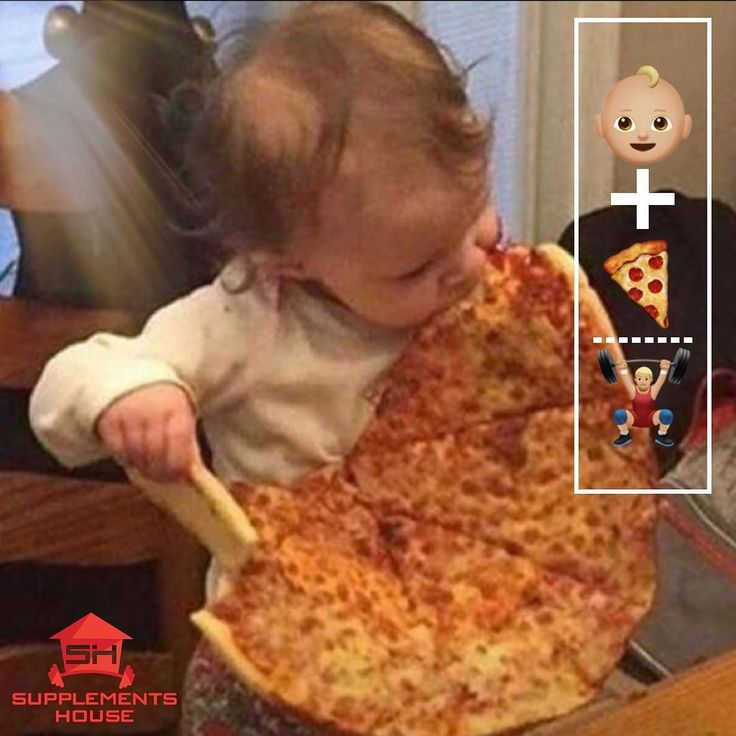 The formula always works when pizza is involved. #babygains #earlygains #babybiceps #weightraining #weights #workout #exercise #training #pushyourself #strength #strong #supplements #fit #fitness #gym #heathy #lift #bodybuilding #nutrition #motivation #muscle #fitfam #fitspo