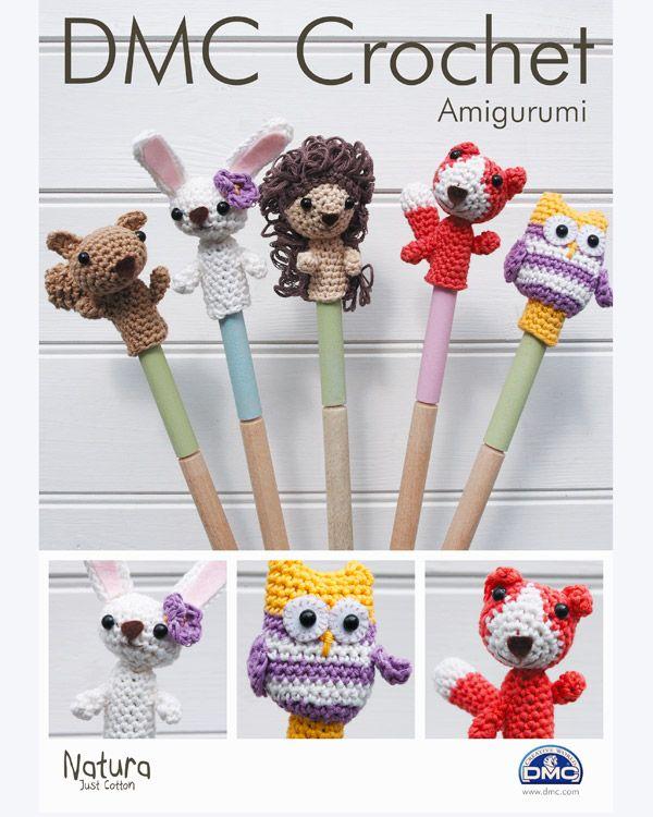 Fingerdockor eller till pennor - Crochet Finger Dolls or Pencil Toppers