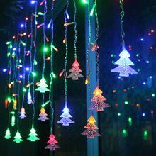 Подключить 216 шт./5 м 96 шт./3 м под занавес рождественская елка огни строки светодиодные гирлянды рождественские Огни Свадьба Украшения(China (Mainland))