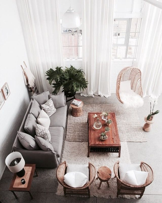I like this living room.  Clever placement of 2 rugs