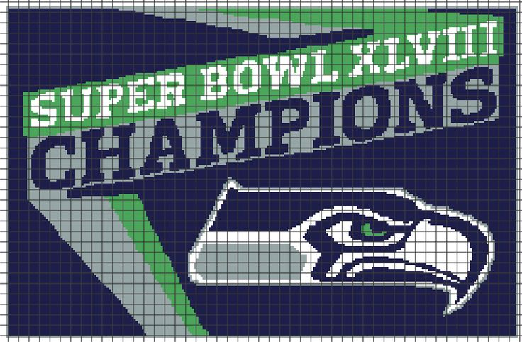 Seattle Seahawks (Chart/Graph AND Row-by-Row Written Instructions) — YarnLoveAffair.com