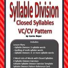 This product contains complete lessons for teaching syllable division and spelling of multi-syllabic words with closed syllables and the VC/CV Pattern. The lessons are based on Orton--Gillingham methods. Differentiated exercise pages are included for your students, or create your own exercise pages using the blank template and the word lists of 54 additional words.
