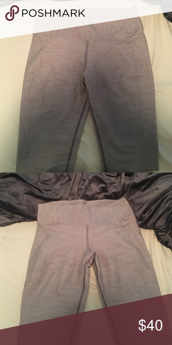 Lovely pair of lulu lemon leggings Silver/grey lulu lemon leggings!! Size 8! Great pair of pants! They are full length and low waisted Hope I can find a happy home for them!! lululemon athletica Pants Leggings