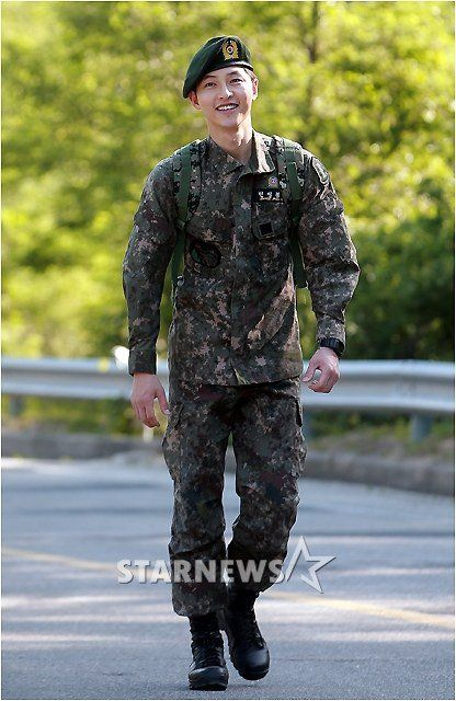 [Photos] Song Joong-ki discharged @ HanCinema :: The Korean Movie and Drama Database