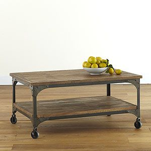 Aiden Coffee Table @ Cost Plus has a stylish industrial design with its mango wood surfaces and metal frames. Our Aiden Coffee Table is a standout piece that gives your space a rustic feel that is both sensible and stylish.