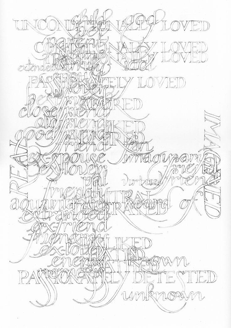 Marian Bantjes, Relationships, for Varoom, pencil, 2010 | #graphic #design #mudac #typography #wunderkammer