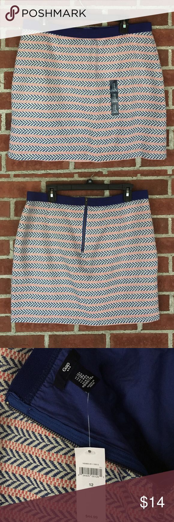 Gap Skirt Blue and orange aztec print skirt by Gap. Size 12 GAP Skirts Mini
