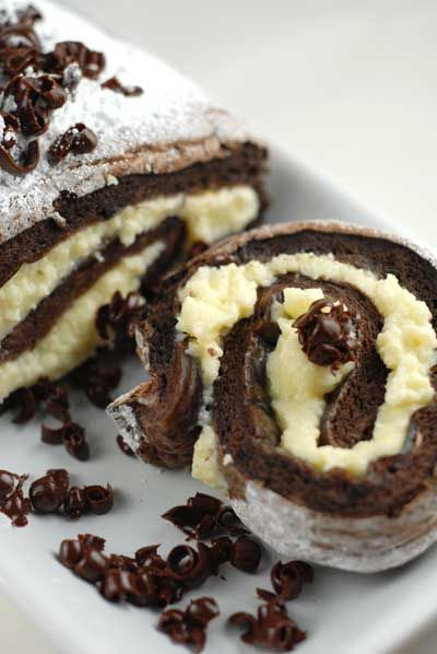 Tiramisu Roulade. Just leave the whole thing on the table please. Gluten free too!  Looks delish:)