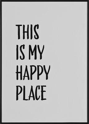 Grafika This is my happy place biała - Obrazy i rzeźby - Artykuły Dekoracyjne - Meble VOX