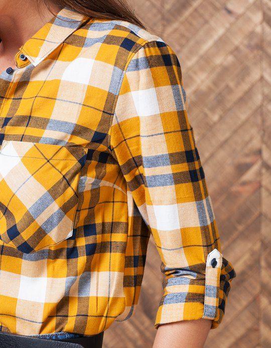 Camisa cuadros - CAMISAS - MUJER | Stradivarius España