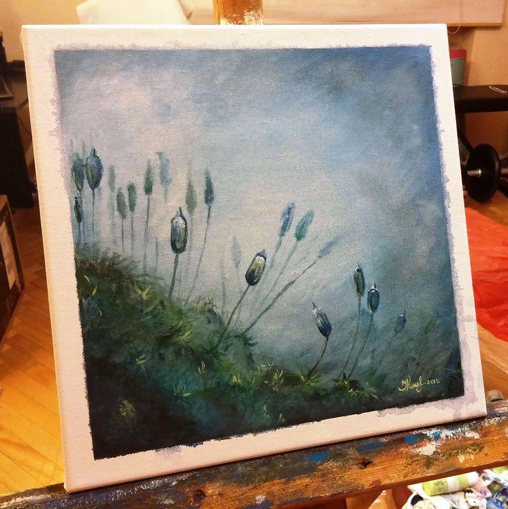 Moss. By Ieva Krivma. Acrylic. 30x30 cm. Canvas