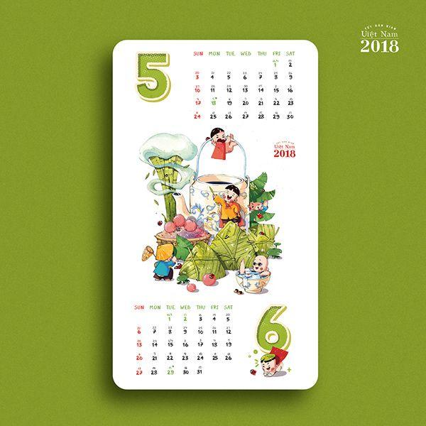 Vietnam Traditional Holiday Calendar On Behance In 2020 Holiday Calendar Calendar Design Calender Design