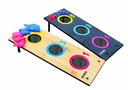 Triumph Sports USA 2-In-1: 3-Hole Tournament Bag Toss and 3-Hole Washer Toss