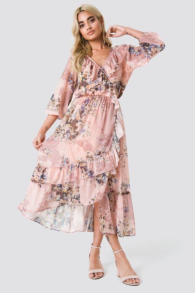 564140d412 Floral Flounce Midi Dress   WISH LIST   Dresses, Pink midi dress ...