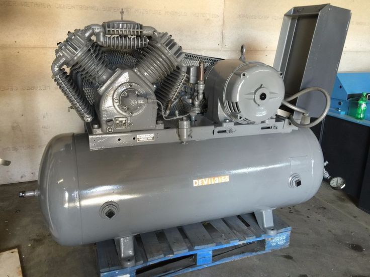 DEVILBISS 20HP RECIPROCATING AIR COMPRESSOR W/TANK STARTER /1500HRS ONLY (OC639) #DEVILBLISS