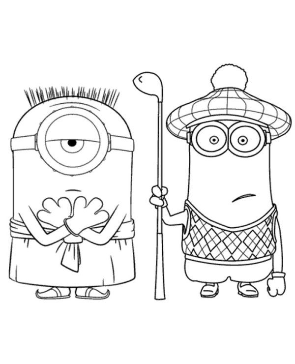 Minions Colouring Pages To Print For Free Who Doesn T Know