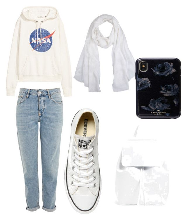 """""""watch movie"""" by galuhhanisp on Polyvore featuring Topshop, Versace and Converse"""