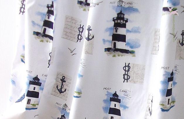 maritimer stoff für kinderzimmer deko und vorhänge von bartienes ... - Kinderzimmer Deko Dawanda