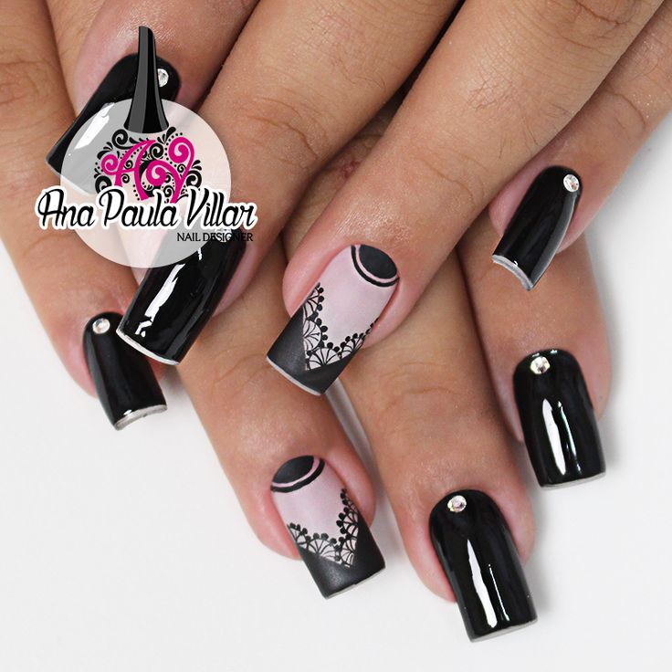 Unhas Decoradas com Rendas (Hand Free Nails) | Ana Paula Villar