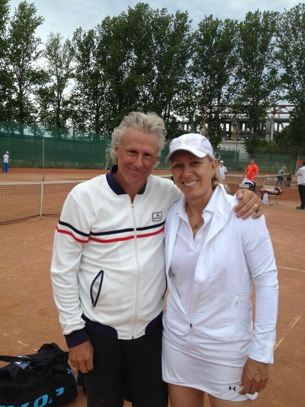 Bjorn Borg & Martina Navratilova