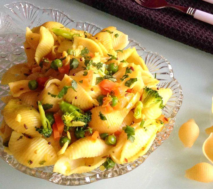 Desi Style Masala Pasta Recipe (Indian Style Pasta)
