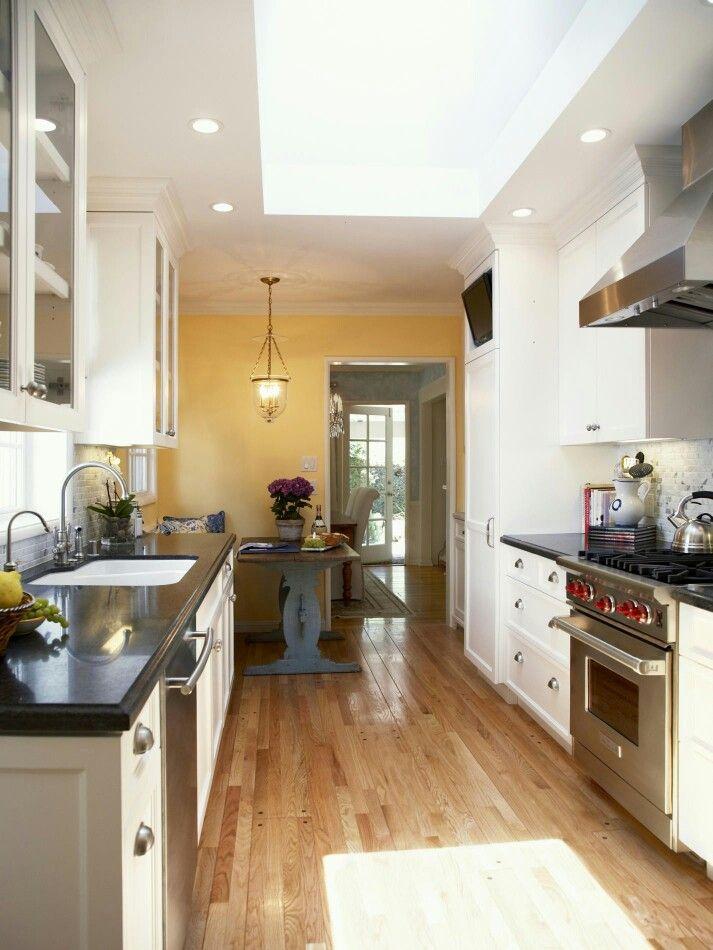 Small table narrow kitchen